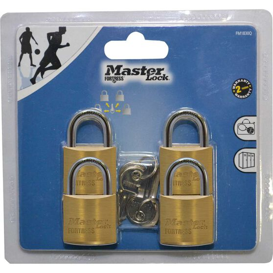 Master Lock Fortress Padlock - 30mm, 4 Pack, , scanz_hi-res