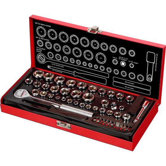 "SCA Socket Set 1/4"" & 3/8"" Drive Metric/SAE 58 Piece, , scanz_hi-res"