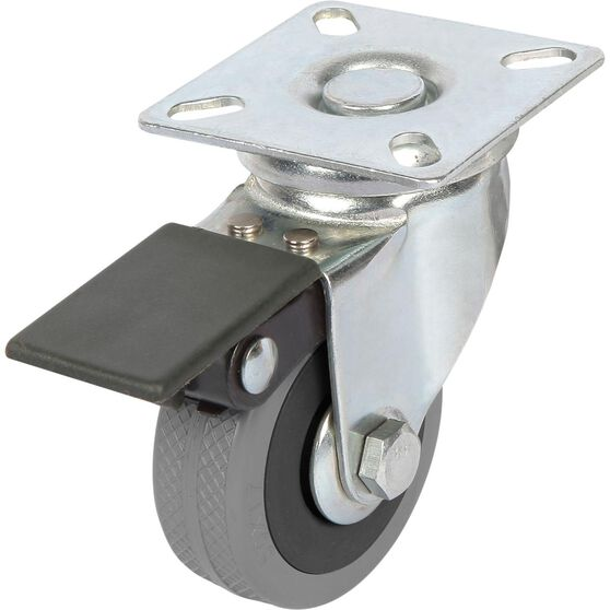 SCA Caster Wheel - 50 x 17mm, Plastic Brake, Swivel, , scanz_hi-res