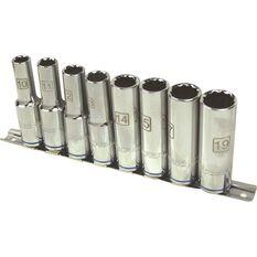 ToolPRO Socket Rail Set - 1 / 2 inch Drive, Metric, Deep, 8 Piece, , scanz_hi-res