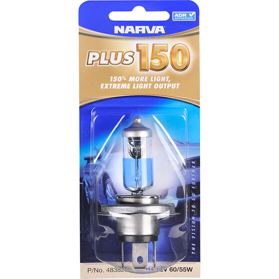 Narva Headlight Globe - Plus 150, 12V, H4, 60/55W, , scanz_hi-res
