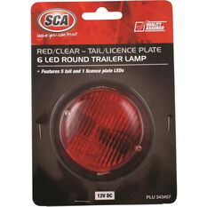 SCA Trailer and Licence Plate Lamp - LED, Round, Red, , scanz_hi-res