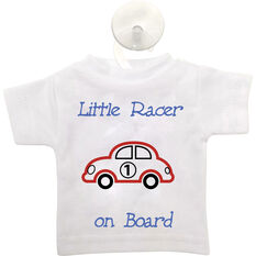 Cabin Crew Kids Little Racer on Board T-Shirt Sign Blue, , scanz_hi-res