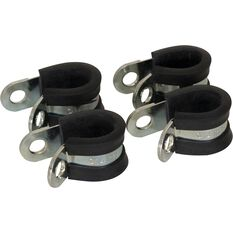 Calibre Rubber Lined P-Clamps - PC14, 4 Pieces, , scanz_hi-res