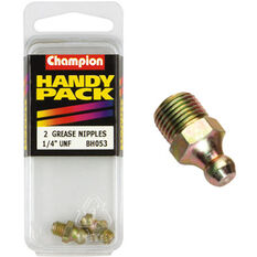 Champion Grease Nipples - UNF 1/4, BH053, Handy Pack, , scanz_hi-res