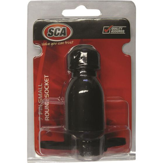 Trailer Socket - 7 Pin, Plastic, Small Round, , scanz_hi-res