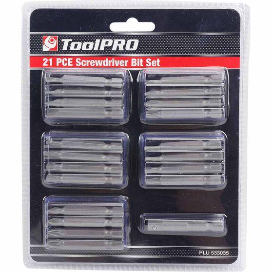 ToolPRO Driver Bit Set - 21 Pieces, , scanz_hi-res
