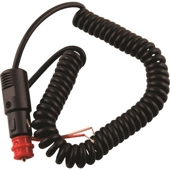 12V Extension Lead - Coiled, 2-in-1 Plug, 3m Lead, , scanz_hi-res