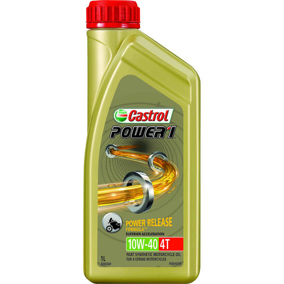 Castrol Power 1 GPS Motorcycle Oil - 10W-40, 1 Litre, , scanz_hi-res