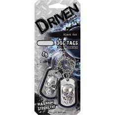Driven Dog Tag Air Freshener - Black out, , scanz_hi-res