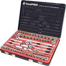 ToolPro Socket Set - 1 / 4 inch, 3 / 8 inch and 1 / 2 inch Drive, Metric / Imperial, 81 Piece, , scanz_hi-res