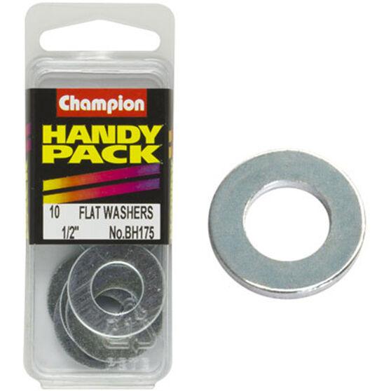 Champion Flat Steel Washers - 1 / 2inch, BH175, Handy Pack, , scanz_hi-res