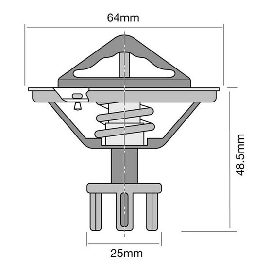 Tridon High Flow Thermostat - TT268-170, , scanz_hi-res