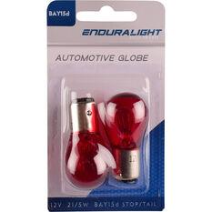 Enduralight Automotive Globe - Stop / Tail, Red, 12V, 21 / 5W, , scanz_hi-res