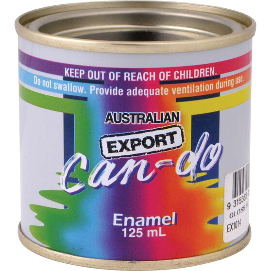 Export Can Do Paint - Enamel, Matt Black, 125mL, , scanz_hi-res