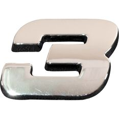 SCA 3D Chrome Badge Number 3, , scanz_hi-res