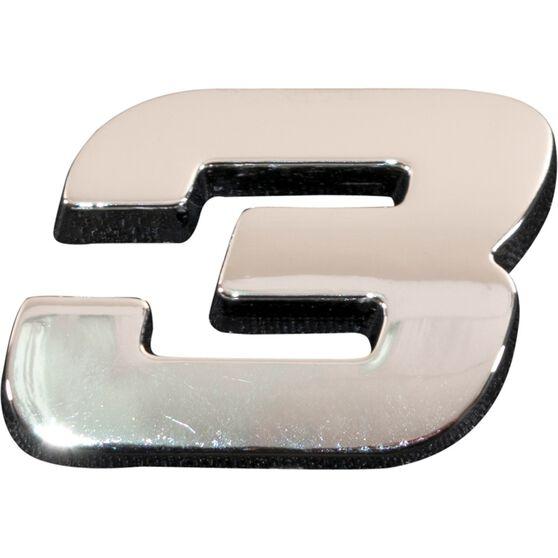 SCA 3D Chrome Badge Number 3, , scanz_hi-res