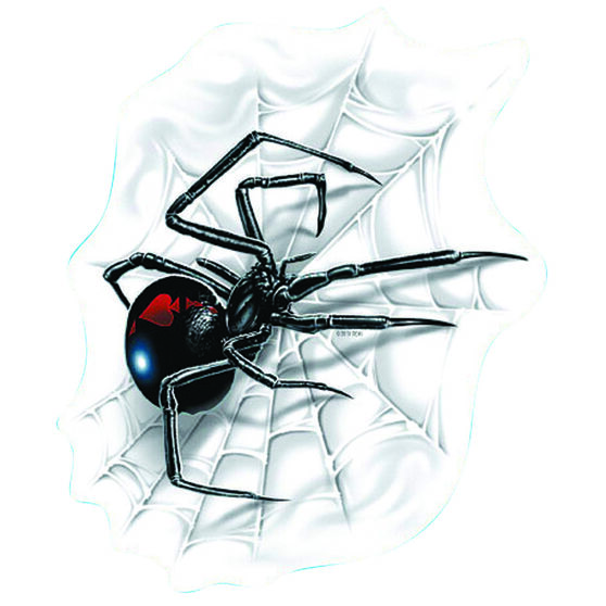Hot Stuff Sticker - Spider with Web, Vinyl, , scanz_hi-res