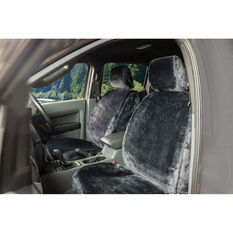 SCA Luxury Fur Seat Covers - Slate, Adjustable Headrests, Size 30, Front Pair, Airbag Compatible, , scanz_hi-res