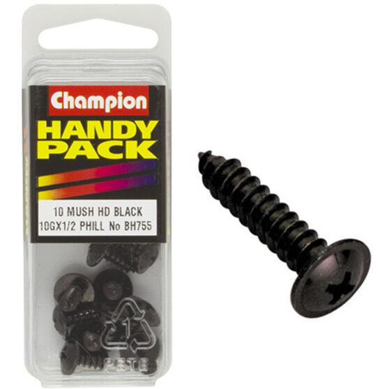 Champion Mush Head Screws - 10G X 1 / 2inch, BH755, Handy Pack, , scanz_hi-res