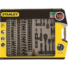 Stanley Socket and AMP Spanner Set - 1 / 4inch / 1 / 2inch / 3 / 8inch Drive, 140 Pieces, , scanz_hi-res