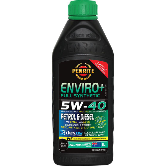 Penrite Enviro+ Engine Oil 5W-40 1 Litre, , scanz_hi-res