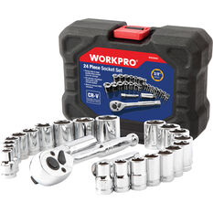WORKPRO Socket Set - 24 Piece, , scanz_hi-res