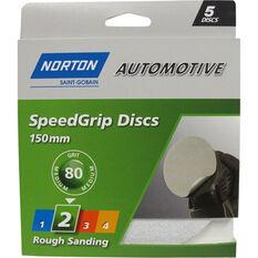 Norton S / Grip Disc - 80 Grit, 150mm, 5 Pack, , scanz_hi-res