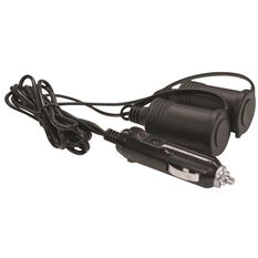 12V Extension Socket - Twin, With Plug, 1m Lead, , scanz_hi-res