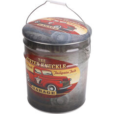 Tin Storage Stool - Red Ute, Busted Knuckle, , scanz_hi-res