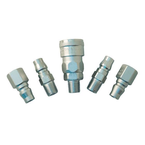 Air Fitting Set, Plug & Coupler - 1/4, 5 Piece, , scanz_hi-res
