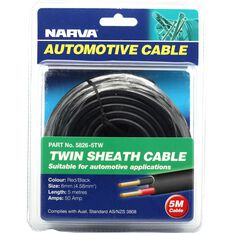 Narva Automotive Cable Twin Sheath 5 Metres 50 AMP, , scanz_hi-res