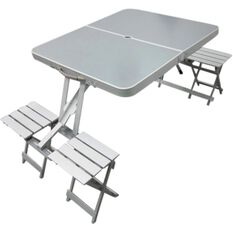Outdoor Camping Table & Chairs - Aluminium, Folding, Portable, , scanz_hi-res