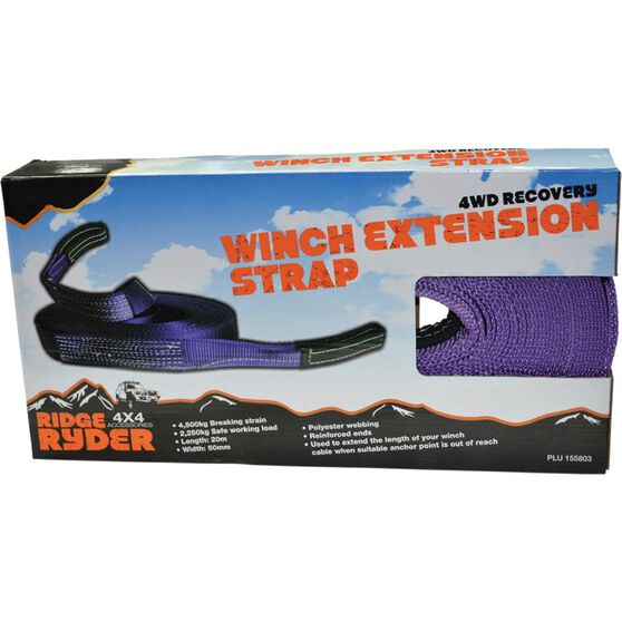 Ridge Ryder Winch Extension Strap - 20m, 4500kg, , scanz_hi-res