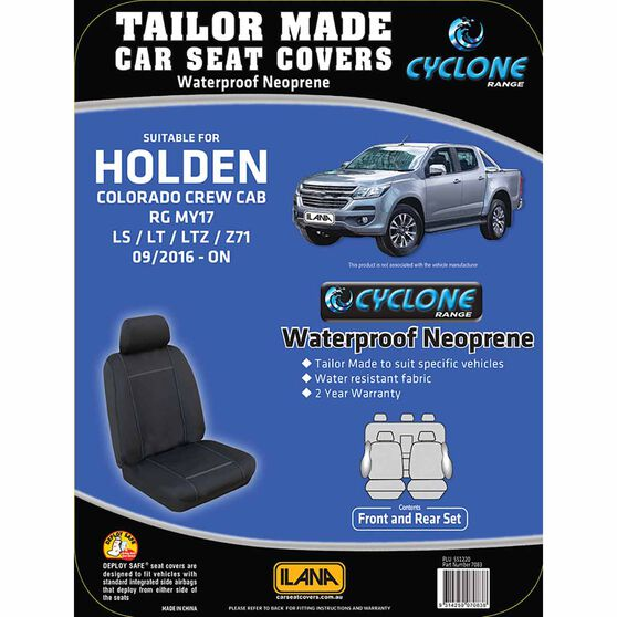 Ilana Cyclone Tailor Made Pack for Holden Colorado RGMY17 09/16+, , scanz_hi-res