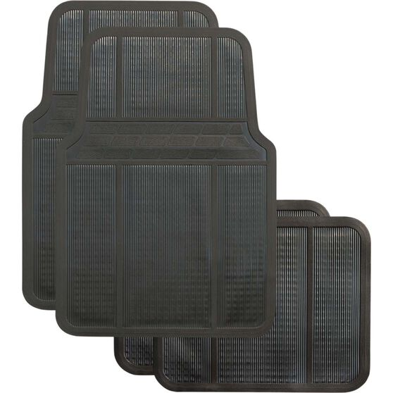 Best Buy Car Floor Mat - Rubber, Black, Set of 4, , scanz_hi-res
