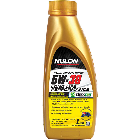 Nulon Full Synthetic Long Life Engine Oil - 5W-30 1 Litre, , scanz_hi-res