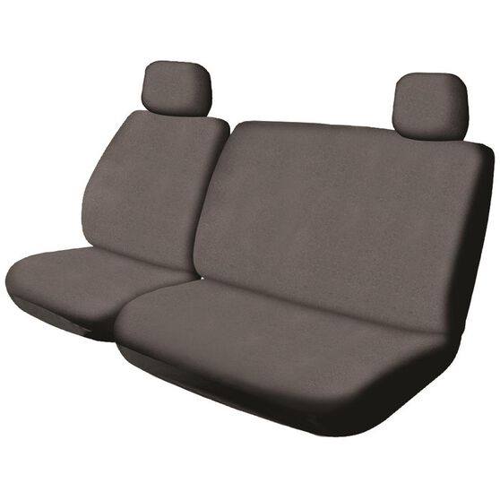 SCA Canvas Ute Seat Cover - Charcoal, Size 301, Front Bucket and Bench (w/out cut out), , scanz_hi-res