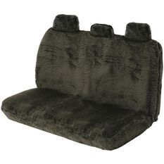 SCA Comfort Fur Seat Cover - Black, Adjustable Headrests, Size 06H, Rear Seat, , scanz_hi-res