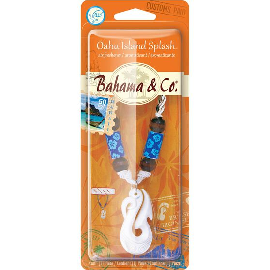 Bahama & Co Bone Hook Necklace Air Freshener - Oahu Island Splash, , scanz_hi-res