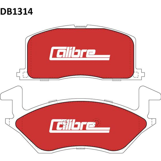 Calibre Disc Brake Pads - DB1314CAL, , scanz_hi-res