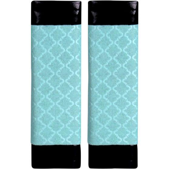 Metallic Print Seat Belt Buddies - Mint Green and Black, Pair, , scanz_hi-res