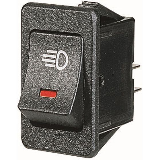 SCA Illuminated Rocker Switch On/Off Red, , scanz_hi-res