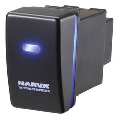 Narva OE Style Switch - Suits Holden Colorado 08-13 / Isuzu D-Max 09-13, Blank Push On/Off, Blue LED, 63324BL, , scanz_hi-res