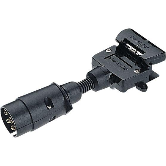 Narva Trailer Adaptor - 7 Pin large round to 7 Pin flat, , scanz_hi-res