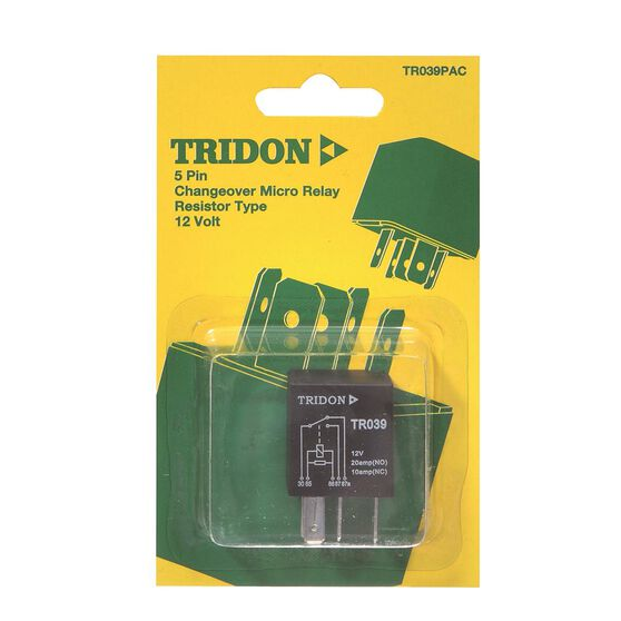 Tridon Micro Relay - 20 / 10 AMP, 5 Pin, , scanz_hi-res
