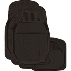 Ridge Ryder Black Rubber Deep Dish Car Floor Mats, , scanz_hi-res