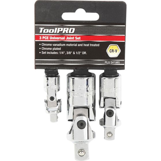 ToolPRO Universal Joint Set - 1 / 4 inch / 3 / 8 inch / 1 / 2 inch Drive, , scanz_hi-res