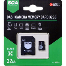 SCA 32GB Dash Cam Memory Card Class 10 with Adaptor, , scanz_hi-res