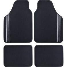 SCA Racing Car Floor Mats - Carpet, Black, Set of 4, , scanz_hi-res